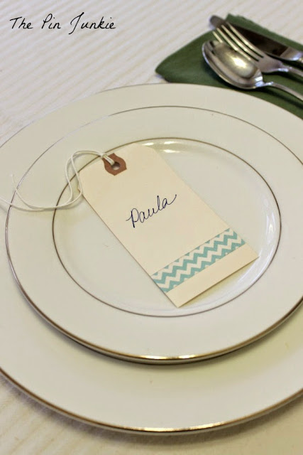 place card wahsi tape diy modern