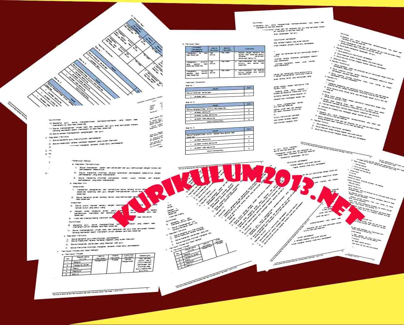 Rpp Sd Kurikulum 2013 Kelas 1 Semua Tema Seluruh Sub Tema Baru Dan Lengkap Kurikulum 2013 Revisi
