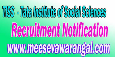 TISS (Tata Institute of Social Sciences) Recruitment Notification 2016 tiss.edu
