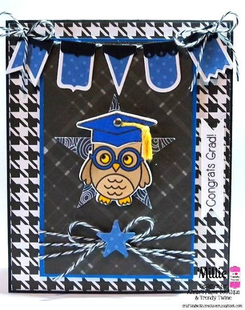Sunny Studio Stamps: Woo Hoo Owl Graduation Card by Migdalia Rodriguez