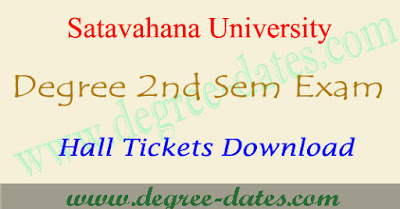 Satavahana university degree 2nd sem hall tickets 2017 su 1st year ug results