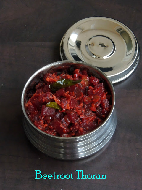 Beetroot Upperi, Thoran with beetroot