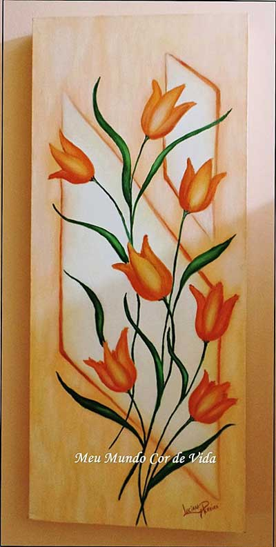 tulipas-óleo sobre tela