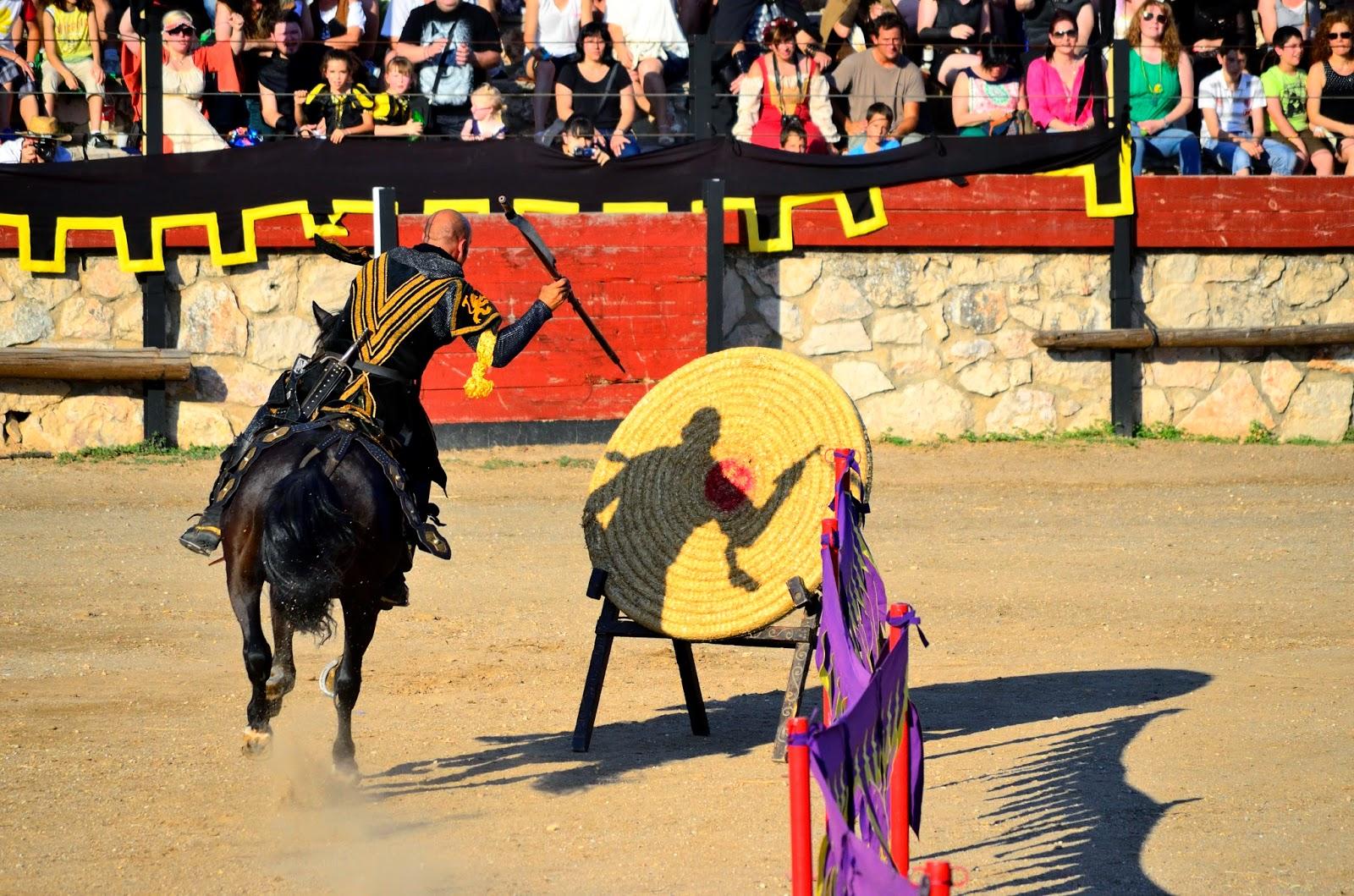 Prueba de habilidad del torneo medieval en Hita. Imagen: Daniel Salvador