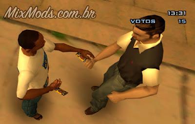 mod de eleição para GTA SA - entregando panfletos