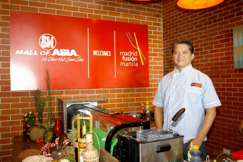 Chef Claude Tayag for Madrid Fusion Manila