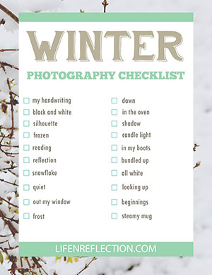 http://life-n-reflection.blogspot.com/p/winter-photography-checklist.html