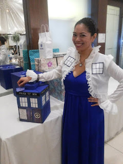 Regina, the TARDIS, with TARDIS, the gift.