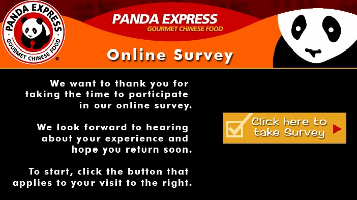 Enter the 4 or 5-digit store number which you will find at the top of your Panda Express receipt, and click Next. Confirm the Panda Express restaurant store number you entered. Enter the order number which is on the top of the front of your receipt.