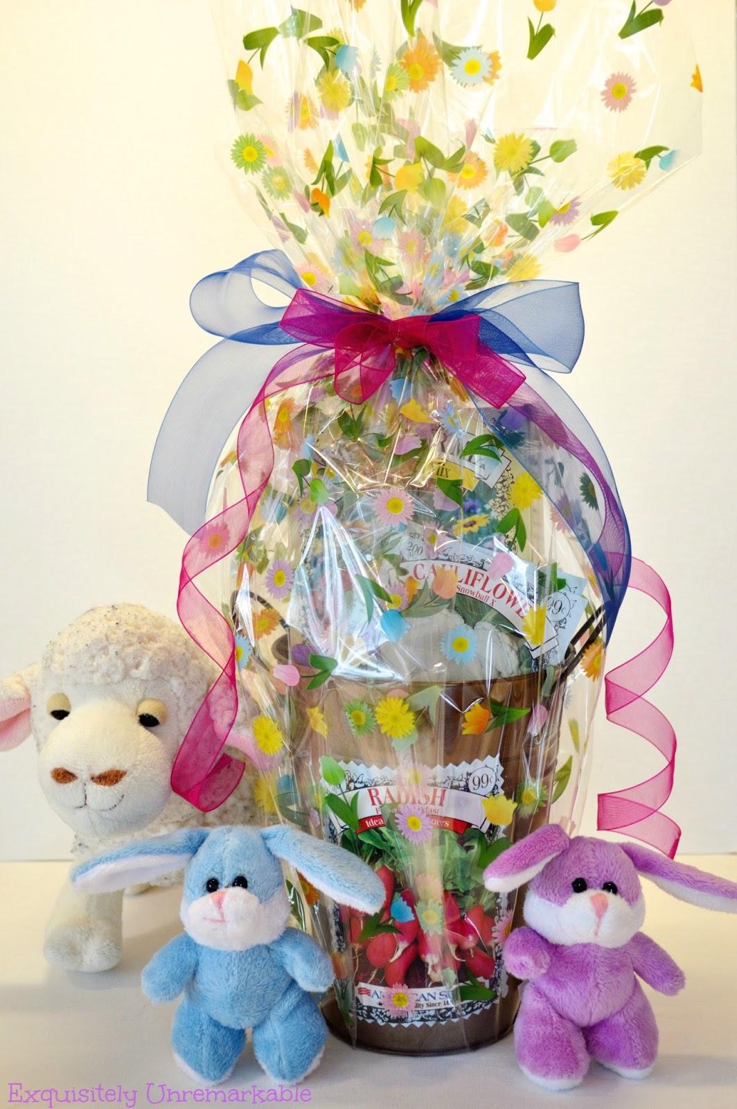 Spring Dollar Store Gardening Gift Basket