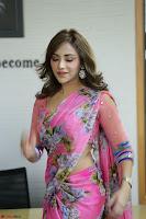 Angela Krislinzki Rogue Movie Fame Telugu Actress in Saree Backless Choli 102.JPG