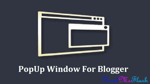Popup Window for Blogger