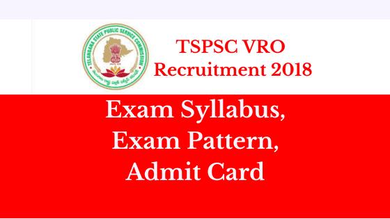 TSPSC VRO admit card