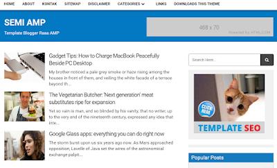Semi AMP Blogger Template