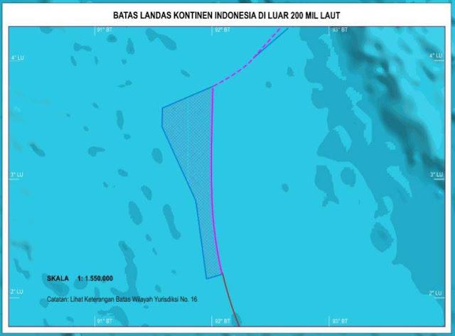 Batas Landasan Continent Indonesia dalam gambar Peta Indonesia Terlengkap