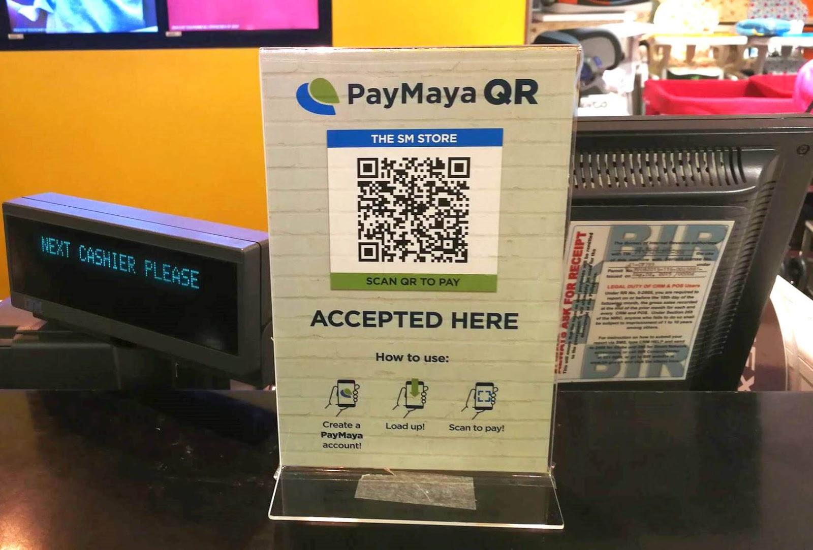 PayMaya QR code payment