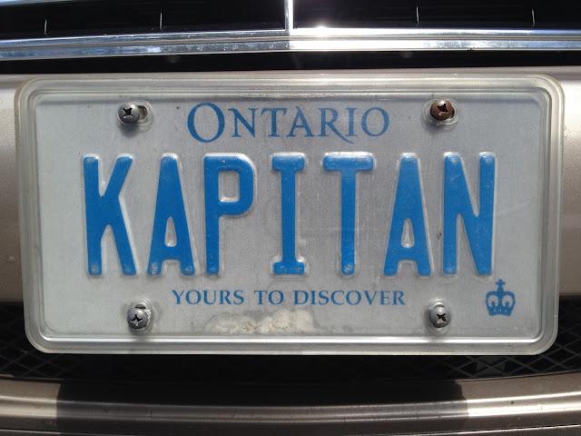 Personalized vanity Ontario licence plate KAPITAN