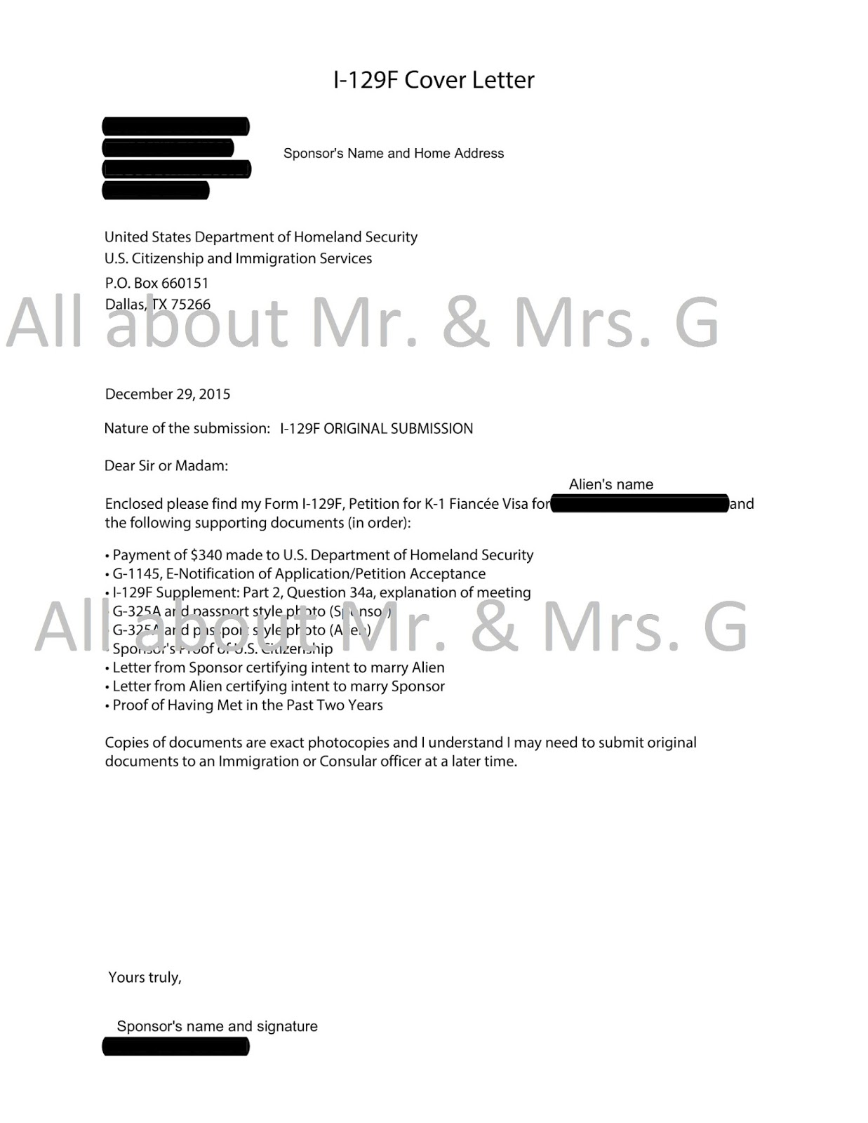 All about mr and mrs g k 1 fiance visa timeline sample cover letter and letter of intent spiritdancerdesigns Image collections