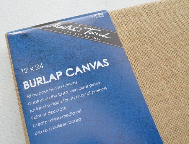 How to Transform a Boring Burlap Canvas