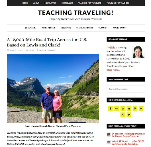 Interview on TeachingTraveling.com About Our 12,000 Summer Road Trip