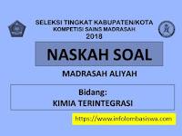 Kumpulan Soal KSM MA Tahun 2018 dan Kunci Jawaban