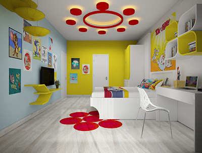 gypsum board designs for kids room false ceilings