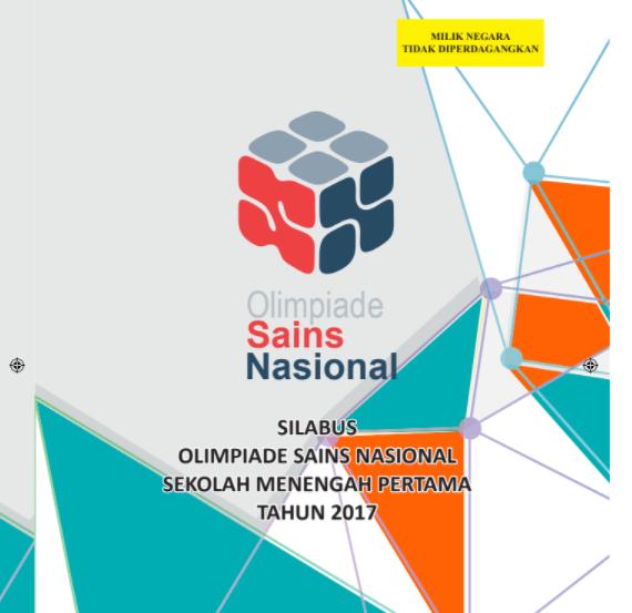 Unduh Juknis OSN SD Tahun 2018 PDF