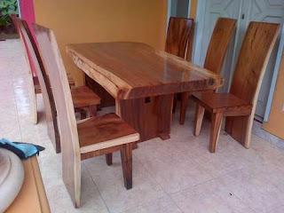 meja makan kursi blok