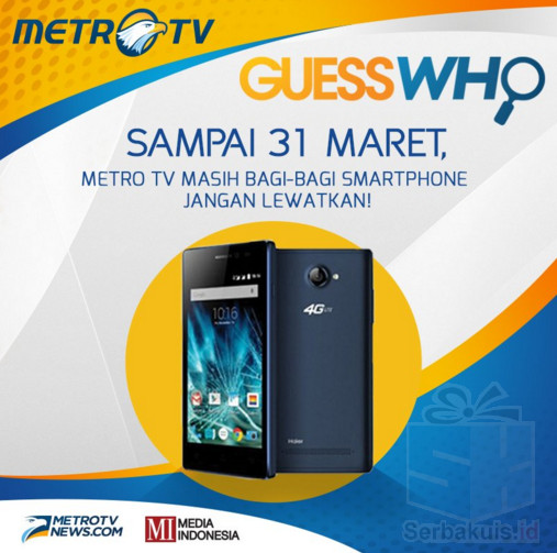 Kuis Metro TV Presenter Berhadiah Total 30 Smartphone