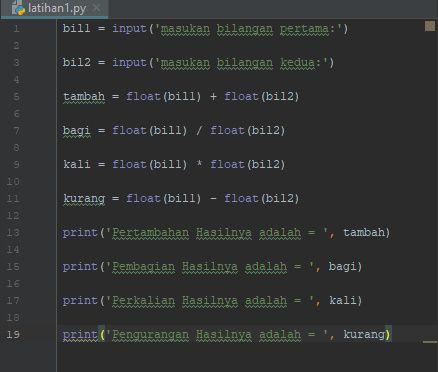 Source Code Aplikasi Kalkulator Python