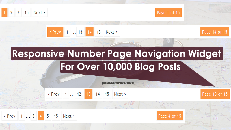 Responsive Number Page Navigation Widget for unlimited Blog Posts.