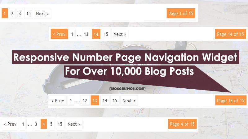 Responsive Number Page Navigation Widget for Over 10,000 Blog Posts.