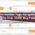 Responsive Number Page Navigation Widget for Over 10,000 Blog Posts