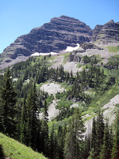 The north face of North Maroon Peak