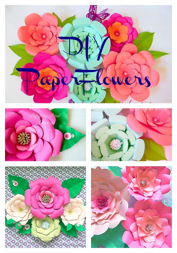 Easy method for any giant paper flower catching colorflies paper flower home decor diy home paper floral decor diy paper flower wall art mightylinksfo