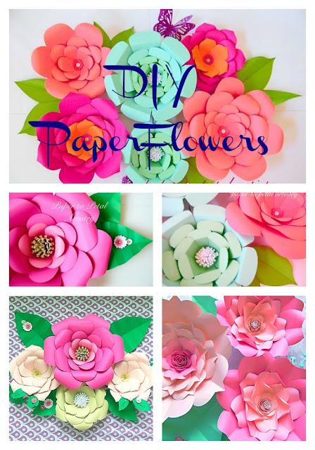 Paper flower home decor,  DIY Home Paper floral Decor, DIY Paper flower Wall Art, Wall Hanging, Living & Bedroom DIY Paper decor
