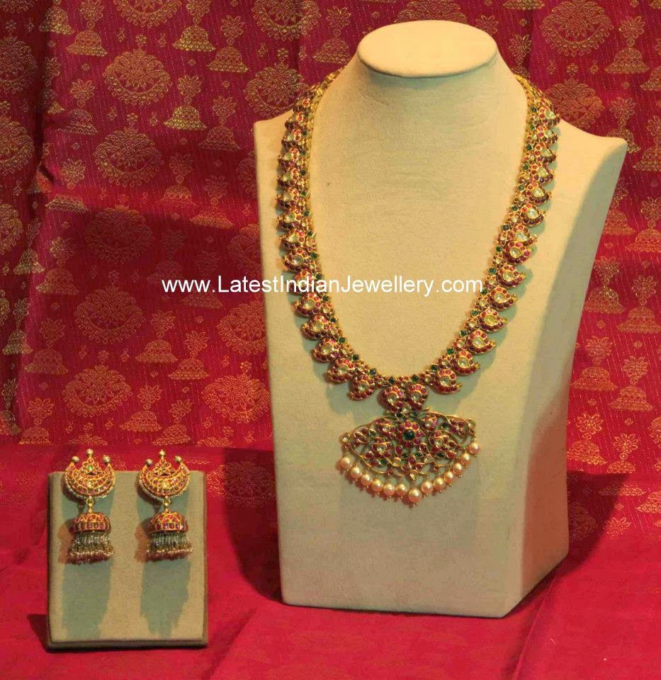 Royal Gold Mango Malai Haram Latest Indian Jewellery Designs