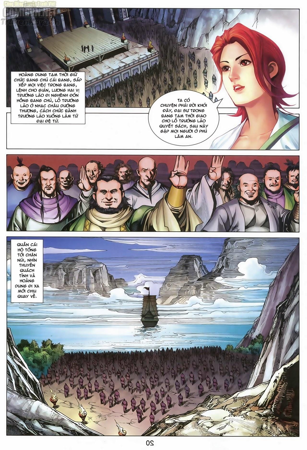 Anh Hùng Xạ Điêu anh hùng xạ đêu chap 68: di thư chân kinh - lừa tình trang 21