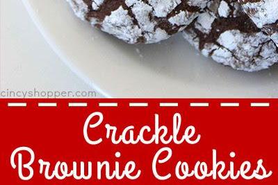 CHRISTMAS CRACKLE BROWNIE COOKIES