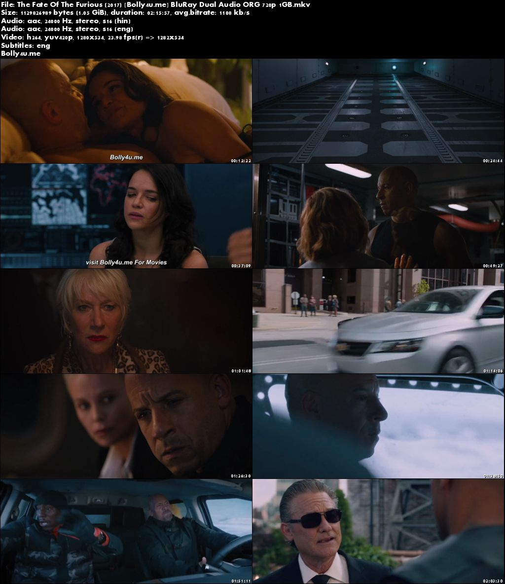 The Fate Of The Furious 2017 BluRay 450MB Hindi Dual Audio ORG 480p Download