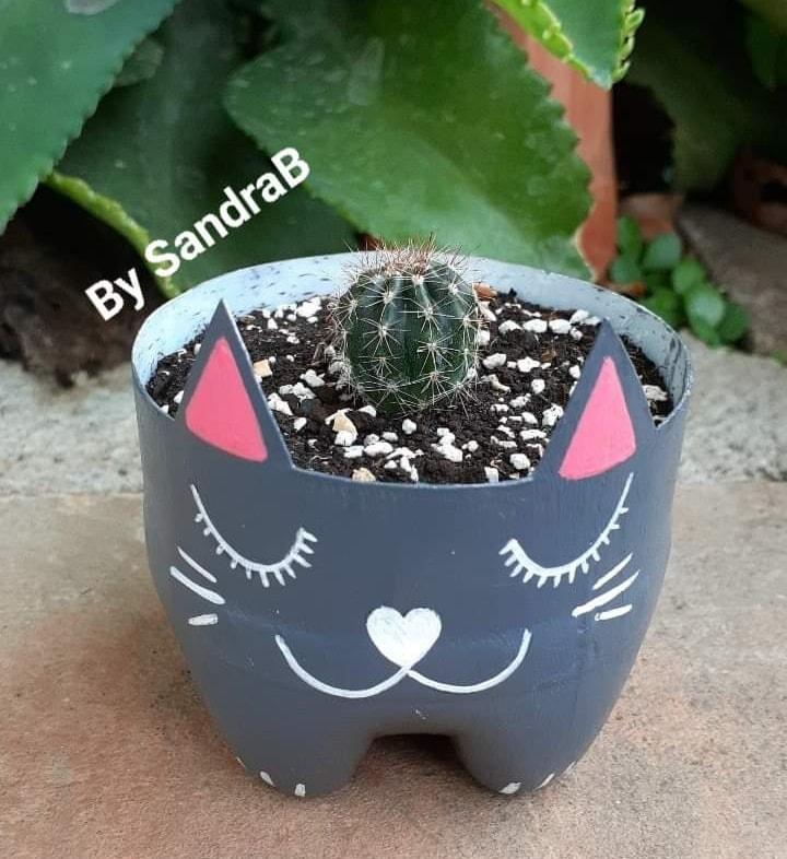 Vaso de Garrafa Pet Gato