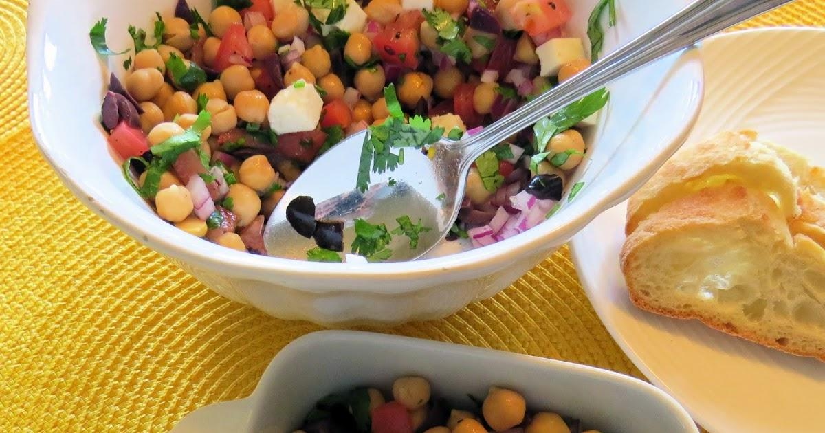 La cuisine de messidor salade grecque aux pois chiches for La fontaine aux cuisines