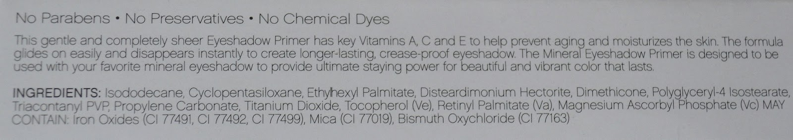 praimer, e.l.f Mineral Eyeshadow Primer in Sheer