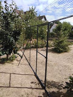 Katzennetz mit Durchgangstür für Garten