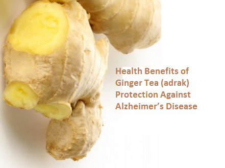 Health Benefits of Ginger Tea (adrak) Protection Against Alzheimer's Disease