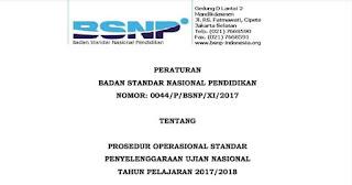 POS dan Kisi-Kisi USBN-UN SD/MI,SMP/MTs,SMA/MA/SMK 2017-2018