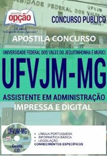 Apostila CONCURSO UFVJM Assistente em Administração 2017
