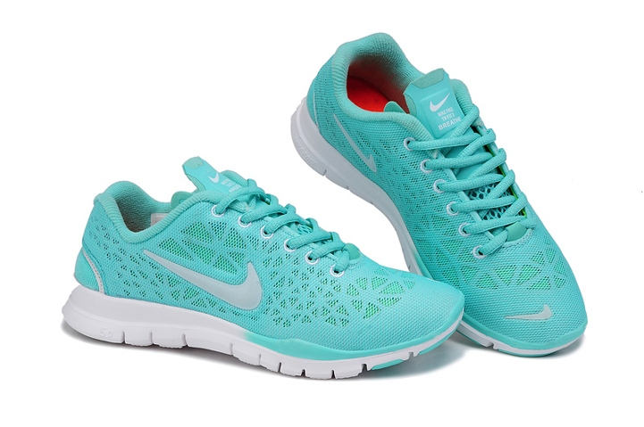 Nike Free   V Womens Running Shoes Mint Green Silver