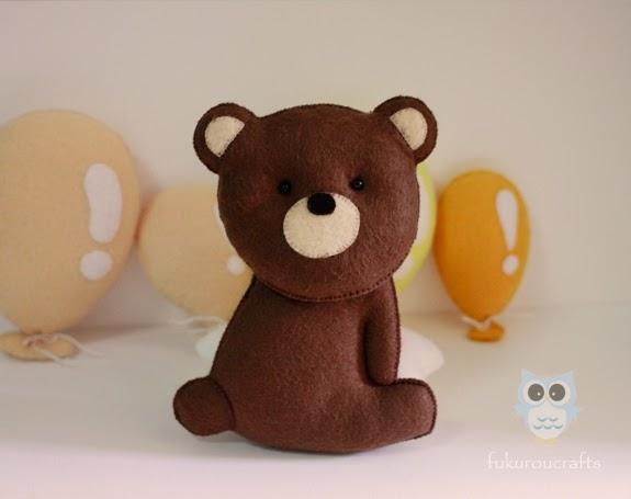 Cute Bear Felt Doll Christmas ornaments, handmade,  เครื่องประดับ, ตกแต่ง ต้น คริสมาสต์  ปีใหม่  ตุ๊กตา หมี ผ้า สักหลาด น่ารัก