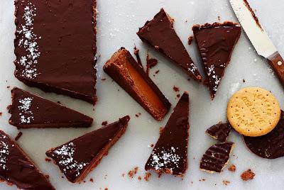 Chocoladetaart met gezouten karamel